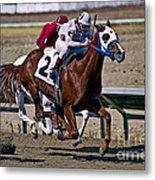 Flying Hooves Metal Print