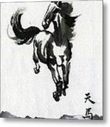 Flying Horse Metal Print