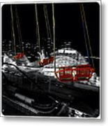 Flying In The Carousel Metal Print