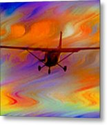 Flying Into A Rainbow Metal Print