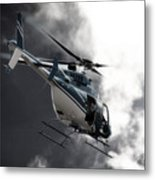 Flying Into The Light Metal Print