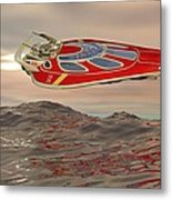 Flying Just Above The Waves Metal Print