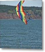 Flying Kite Metal Print