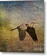 Flying Near The Moon Metal Print