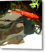 Flying On The Surface Metal Print