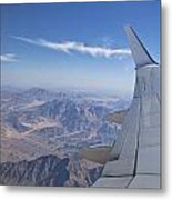 Flying Over Mount Sinai Metal Print