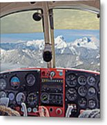 Flying Over North Cascades Metal Print