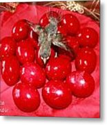 Flying Over Red Eggs Metal Print