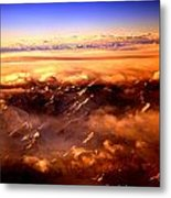 Flying Over The Mountains Metal Print