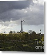 Flying Over The Tuileries Metal Print