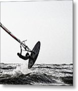 Flying Over The Waves Metal Print