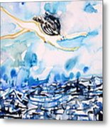 Flying Over Troubled Waters Metal Print