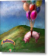 Flying Pig - Child - How I Wish I Were A Bird Metal Print
