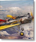 Flying Pig - Plane - The Joy Ride Metal Print by Mike Savad