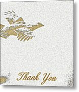 Flying Ruffed Grouse Thank You Metal Print