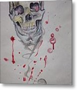 Flying Skull Metal Print by Erik Franco