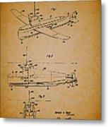 Flying Submarine Patent Metal Print