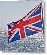 Flying The British Flag Metal Print