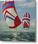 Flying The Colors Metal Print