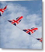 Flying The Union Jack Metal Print