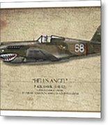 Flying Tiger P-40 Warhawk - Map Background Metal Print by Craig Tinder