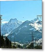 The Way To The Alps Metal Print