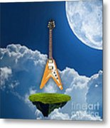 Flying V Guitar Metal Print
