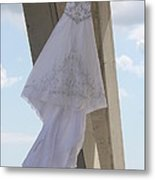 Flying Wedding Dress 2 Metal Print