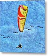 Flying With The Birds Metal Print