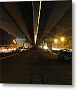 Flyover And A Car Metal Print