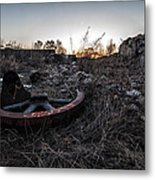 Flywheel Metal Print