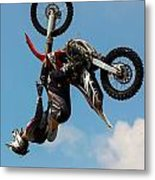 Fmx Backflip Metal Print
