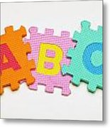 Foam Alphabet Shapes Metal Print