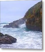 Foam In The Fog Metal Print