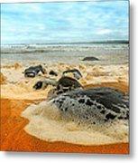 Foam Rocks 01 Metal Print