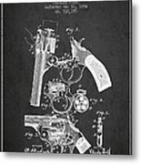 Foehl Revolver Patent Drawing From 1894 - Dark Metal Print