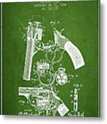 Foehl Revolver Patent Drawing From 1894 - Green Metal Print