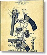 Foehl Revolver Patent Drawing From 1894 - Vintage Metal Print