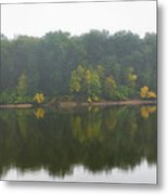 Fog Along The River Metal Print