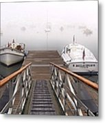 Fog Beyond The Ramp Metal Print