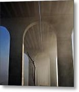 Fog Bridge Metal Print