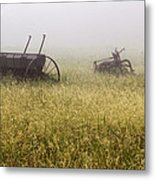 Fog Covered Field Metal Print