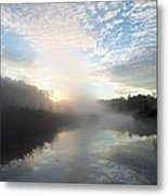 Fog Covered River Metal Print