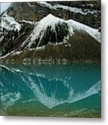 Fog Has Lifted From Lake Louise Metal Print