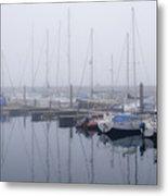 Fog In Marina I Metal Print