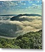 Fog In The Grand View Valley Metal Print