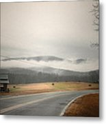 Fog In The Hollow Metal Print by Cindy Rubin