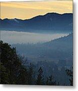 Fog Invades The Evans Valley Metal Print