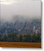 Fog On The Bluffs Metal Print