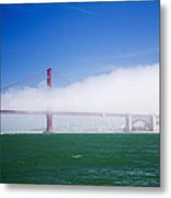 Fog On The Bridge Metal Print